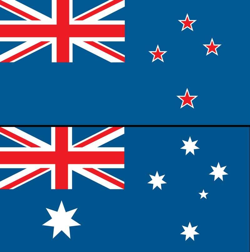 न्यूजीलैंड (New Zealand)और ऑस्ट्रेलिया (Australia) का राष्ट्रीय ध्वज